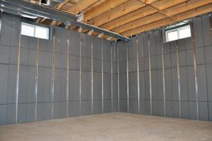 Isolation et finition des murs de sous-sol