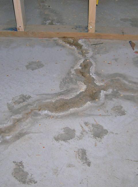 Rparation De Fissures Du Plancher Et Des Murs Du SousSol Au